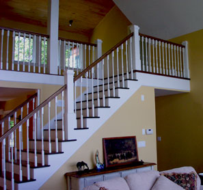 finished stair case